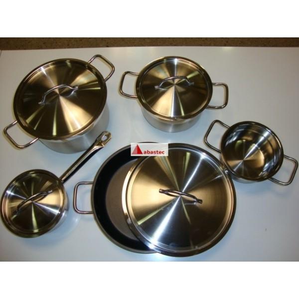 Extractor De Baño Bateria:Set de bateria Teka de 9 piezas inox (cazuelas, cazo, cacerola