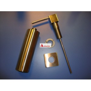 Dispensador de jabon Cuadro cromo/inox