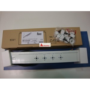 Panel control de mandos metalico.1 blanco (obsoleto)