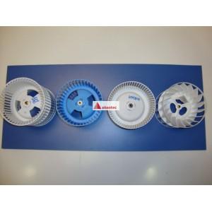Rodete de motor campanas decorativas (doble turbina)