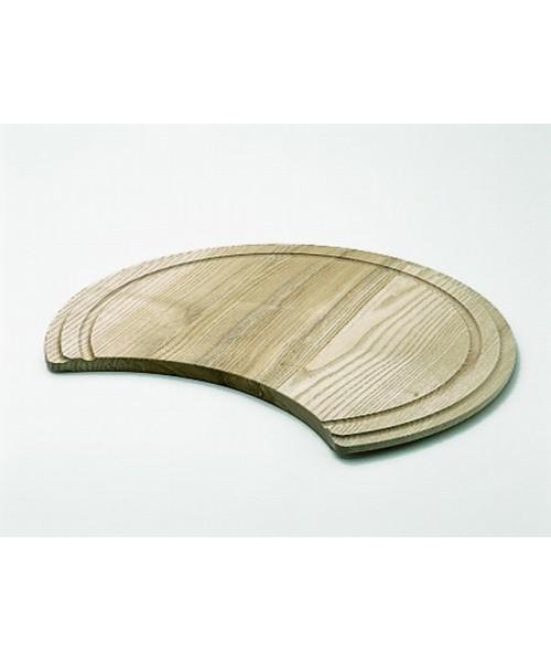 Tabla de madera redonda para fregadero