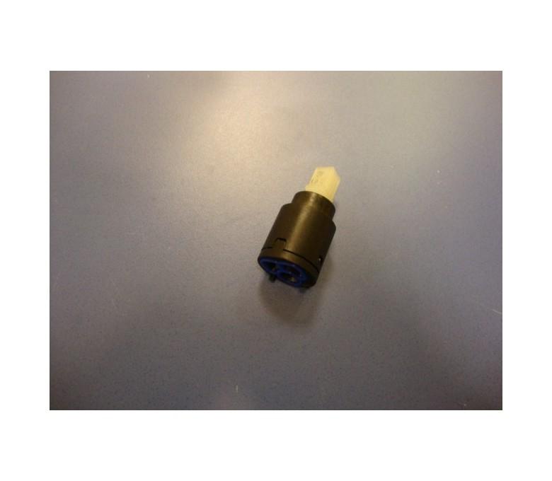 Cartucho 25mm/base plana/negro