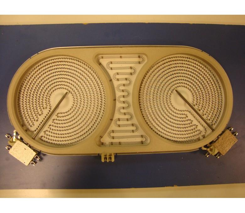Placa eléctrica VRTC90 180/180 oval