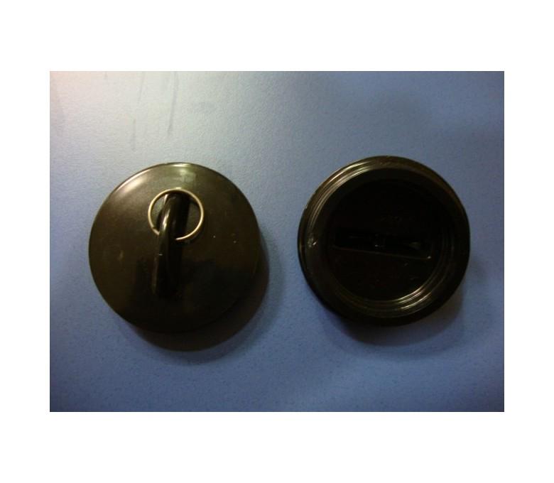 Tapon goma con anilla fregaderos Teka (5.5cm diametro)