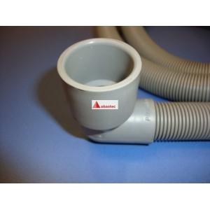 Tubo desague lavavajillas 1,5mt (codo 90º) boca 30mm