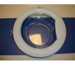 Ojo con marco blanco lavadora TKXxxxxT (bisagra anterior)