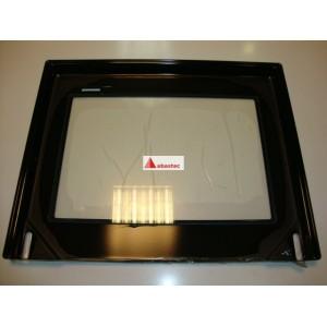 Contrapuerta con cristal pegado y salida de humos S2K